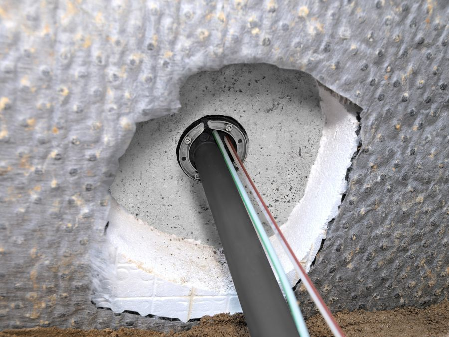 HAUFF UNI-Ringraumdichtung HSD 100-EWD, f. Kabel D=24-44 mm + 4 Kabel D-7-12 mm für Hausanschlüsse